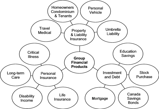 Diagram of Employer Sponsored Personal Financial Products
